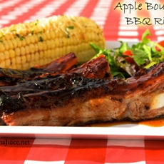 Sweet & Spicy Apple Bourbon BBQ Ribs