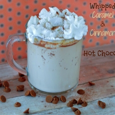Whipped Caramel & Cinnamon Hot Chocolate