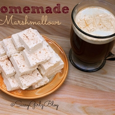 Eggnog Flavored Homemade Marshmallows