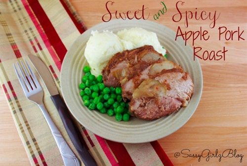 Sweet & Spicy Slow Cooker Apple Pork Roast