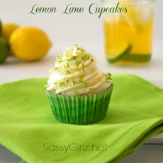 Lemon Lime Cupcakes With Lemon Cream Cheese Frosting