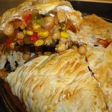 Mexican Chickpea Filo Pie