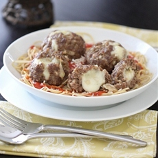 Mozzarella Stuffed Homemade Meatballs