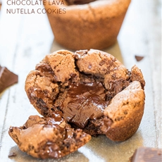 Chocolate Lava Nutella Cookies