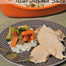 Turkey Breast slowcooked in Asian Inspired Sauce