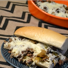 Slow Cooker Philly Cheese Steak with Tabasco