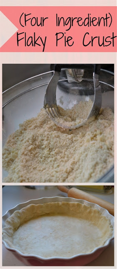 Four Ingredient Flaky Pie Crust