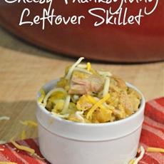 Cheesy Thanksgiving Turkey Leftover Skillet