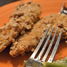 Pretzel Crusted Chicken Tenders (Gluten Free)