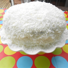 Homemade Coconut Birthday Cake
