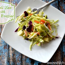 Broccoli Slaw with Creamy Yogurt Dressing