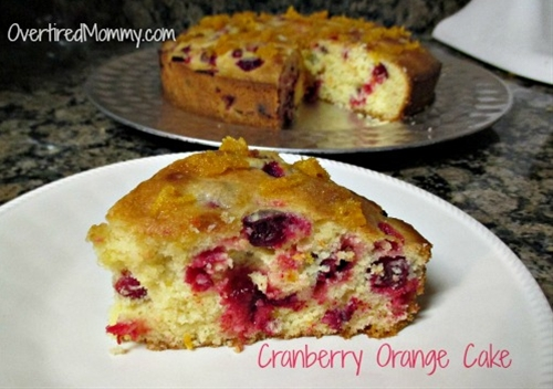 Cranberry Orange Cake with Olive Oil
