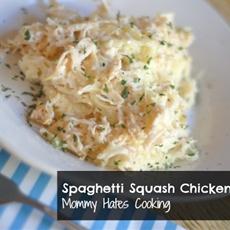 Spaghetti Squash Chicken Alfredo
