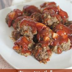 Toni's Tangy Meatballs