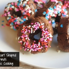 Chocolate Baked Heart Shaped Doughnuts