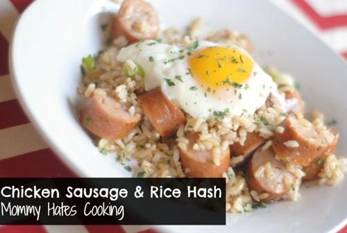 Chicken Sausage & Rice Hash
