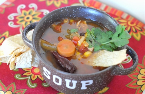Spicy Chicken Tortilla Soup with La Morena