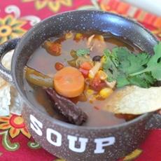 Spicy Chicken Tortilla Soup with La Morena