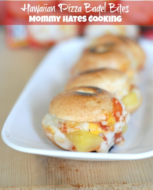 Hawaiian Pizza Bagel Bite Sliders & Easy Snacks