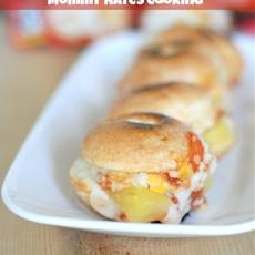 Hawaiian Pizza Bagel Bite Sliders & Easy Snacks