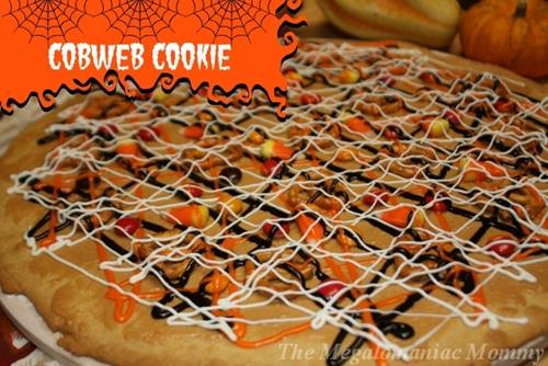 Halloween cobweb cookie