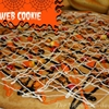 Halloween cobweb cookie