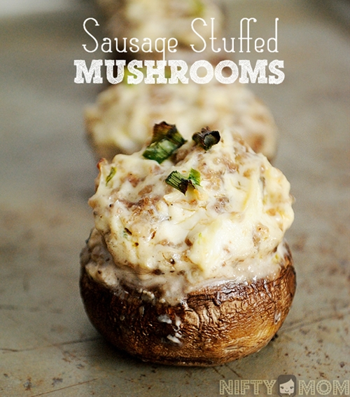 Sausage & Cream Cheese Stuffed Mushrooms
