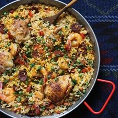 Chicken, Shrimp and Chorizo Paella